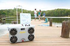 cooler with kicker speakers