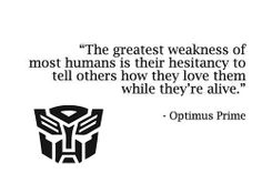 #transformer #quote on human #love