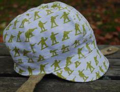 Jockey Cap reversible hat boy sun hat boy hat by eddieandsofia Fun Army, Army Men Toys, Cute Caps, Warm Winter Hats, Fabric Combinations, Looking Dapper, News Boy Hat, Boy Or Girl, Baby Boy