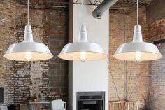Lampadario a sospensione vintage in Stile Industriale colore Bianco per bar e ristoranti