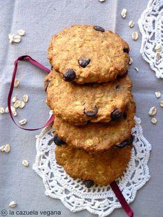 oat flakes cookies w/ orange and chocolate…vegan! Cake Cookies, Sugar Cookies, Cupcakes, Sin Gluten, Vegan Gluten Free, Cook Up A Storm, Healthy Sweets, Dessert Recipes, Desserts