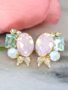 Hey, I found this really awesome Etsy listing at https://www.etsy.com/listing/286883947/pastel-earrings-rose-quartz-serenity