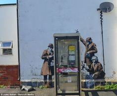 """This wonderful piece of graffiti depicts the government officials spying on our calls, in order to """"protect"""" us. But in retrospect, the government will continue to lie to the American people."""