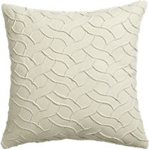 """woolsley ivory 18"""" pillow$49  cb2"""