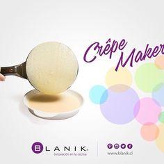 Crea los más ricos panqueques de manera fácil y rápida, para disfrutar con los más pequeños con Crêpe Maker de #Blanik  http://ow.ly/XuJOy