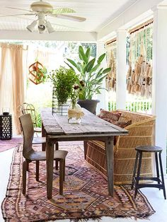 muted bohemian inspiration for the back porch