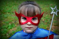 Superhero mask kid lightenbolt  or Princess on etsy $4.50 great for party favors bulk discounts