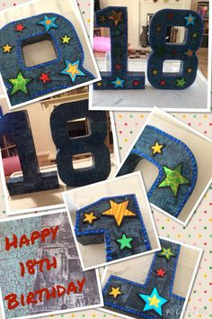 18th birthday - Large Decopatch Letters
