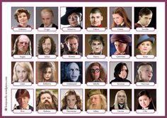 Les ados du monde entier les aiment alors les voici, les personnages de la saga Harry Potter en version Qui est-ce ? pour la classe de FLE ! PDF : bonjourfle-quiestce-harrypotter