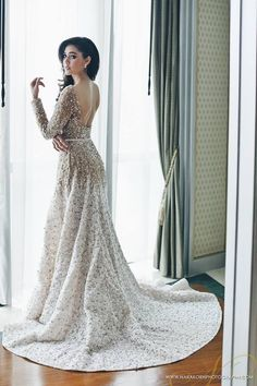 Araya A. Hargate in ELIE SAAB Haute Couture Spring 2015 for her Wedding