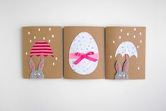 Scrap fabric Easter cards