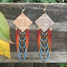 Kauket... Brass and seed bead earrings by DancingWillowDesign