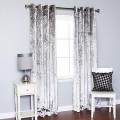 Faux silk overlap curtain panel faux silk overlap curtain panel
