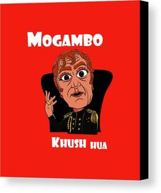 Graphics Canvas Print featuring the digital art Mogambo Khush Hua by Phalguni Roy Funny Quotes In Hindi, Funny Attitude Quotes, Funny True Quotes, Funny Picture Quotes, Funny Dp, Crazy Funny Memes, Funny Jokes, Funky Quotes, Swag Quotes