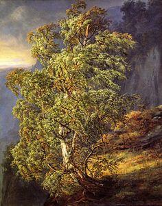 Johan Christian (J.C.C.) Dahl - Birch in a Storm,1849