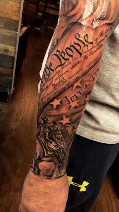 Patriotic Tattoos For Guys : patriotic, tattoos, Patriotic, Tattoos