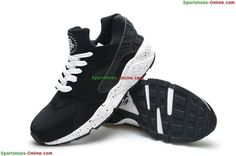 best service 253e5 58cfa Wholesale Women s Nike Air Huarache Running Shoes-Black White Outlet Black  Running Shoes,