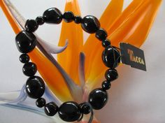 Fall Sale 20 Off Vintage Tacoa Black Genuine Lucite by PGSCoins, $19.95