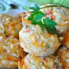 Easy Mini Quiches Allrecipes.com- For all of the preschool teachers out there:  I made these with my kiddos for letter Q.  They loved them and gobbled them up.  I will do this again next year.
