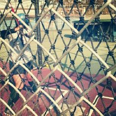 Batting cages.