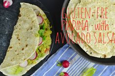 yo I'm back! with an healthy and tasty version of piadina! (which is the italian version for flatbread!) GLUTEN-FREE PIADINA with AVOCADO SALSA