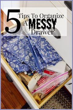 5 Easy tips to ORGANIZE a messy drawer or any space in your home!!!!