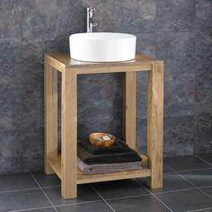 Clickbasin Cube Wide Solid Oak Minimal Bathroom Basin Washstand With Sink Oak Bathroom Furniture, Oak Bathroom Vanity, Bathroom Basin, Bathroom Ideas, Bathroom Wash Stands, Beach House Bathroom, Minimal Bathroom, Single Doors, Solid Oak