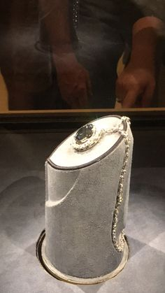 The Hope Diamond in the Smithsonian It is a rare and famous blue diamond from India. It is supposed to be cursed.