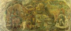 野田英夫 明治41年-昭和14年 アメリカ・カリフォルニア生まれ 『都会』 昭和9年作 大川美術館所蔵