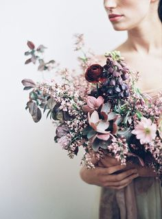 Gorgeous Spring wedding bouquet by Sarah Winward.