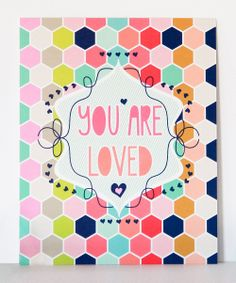 'You Are Loved' Wall Art.