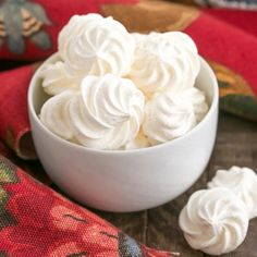 Simple Meringue Cookies: easy, ethereal, melt in your mouth cookies with only 4 ingredients!
