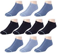 Tommy Hilfiger Men's Ankle Socks (10 Pack) Tommy Hilfiger Tommy Hilfiger Store, Baby In Pumpkin, Gym Style, Ankle Socks, Blue Shoes, Mother Day Gifts, Ju Ju, Fine China, Crew Socks
