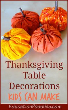 Thanksgiving Table Decorations for Kids to Make