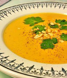 Velouté de carottes et patates douces, lait de coco, à la Thaï – Copyright © Gratinez