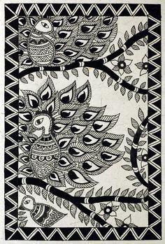 Madhubani black and white birds madhubani paintings peacock, madhubani art, indian paintings, kalamkari Canvas Painting Images, Black Canvas Paintings, Indian Art Paintings, Canvas Art, Madhubani Paintings Peacock, Kalamkari Painting, Madhubani Art, Doodle Art Posters, Mandala Art Lesson