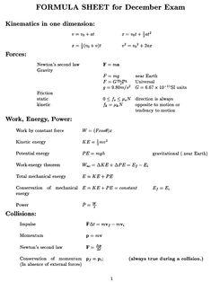 general physics equations sheet o level physics formula sheet mcat 528 pinterest equation. Black Bedroom Furniture Sets. Home Design Ideas