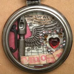 a Valentine I made for my hubby with Tim Holtz's Idea-ology's pocket watch.