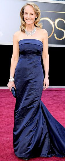 Helen Hunt paired her navy H dress with 700,000 dollars worth of jewelry!