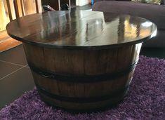 Wine barrel coffee table/blanket box