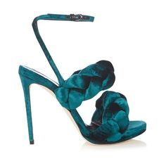 Marco De Vincenzo Velvet high-heel sandals (2.935 RON) ❤ liked on Polyvore featuring shoes, sandals, green, stiletto heel sandals, heels stilettos, velvet shoes, heeled sandals and stiletto heel shoes