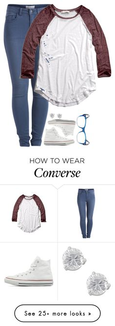 """""""Just got back from the eye doctor... My prescription for the third time... """" by meljordrum on Polyvore featuring Jewel Exclusive, Pieces, Converse, Abercrombie & Fitch, Ray-Ban, women's clothing, women's fashion, women, female and woman"""