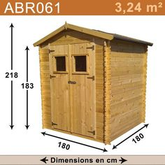 Abri de jardin en bois 3,24m2.
