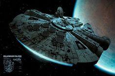 Star Wars Millennium Falcon Regular Poster (01-6711)