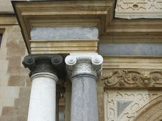 Ionic capitals on porch, Audley End