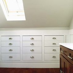 Attic bathroom storage