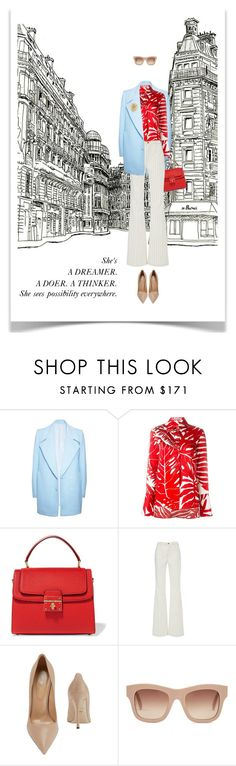 """PARIS RETRO"" by paint-it-black ❤ liked on Polyvore featuring FAIR+true, Ermanno Scervino, Dolce&Gabbana, Frame Denim, Sergio Rossi and STELLA McCARTNEY"