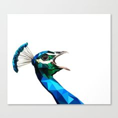 My geometric peacock is now available for prints!