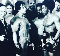 "Sylvester Stallone: ""Rare deleted scene from the original Rocky. Unfortunately they burned all THE OUT TAKES by accident AND only a few pictures remain. This is the moment before ROCKY and knocks out DIPPER, who threatens him and took his locker. Sylvester Stallone, Rocky Series, Rocky Film, Rocky Balboa, Burt Young, Creed Movie, Carl Weathers, Best Picture Winners, Rambo"