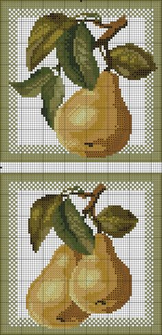 xx 123 Cross Stitch, Cross Stitch Fruit, Cross Stitch Kitchen, Cross Stitch Boards, Cross Stitch Designs, Cross Stitch Patterns, Cross Stitching, Cross Stitch Embroidery, Hand Embroidery